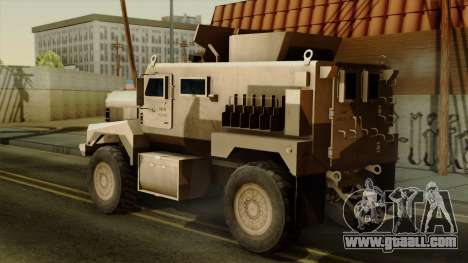 MRAP Cougar 4x4 for GTA San Andreas left view