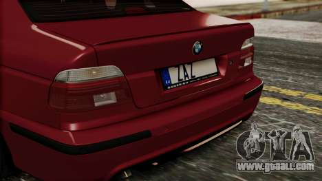 BMW 530D E39 2001 Mtech for GTA San Andreas back view