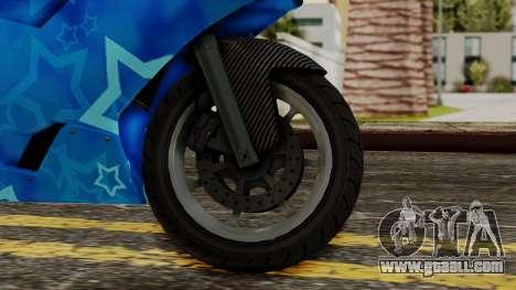 Bati VIP Star Motorcycle for GTA San Andreas back left view