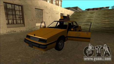 Willard Taxi for GTA San Andreas bottom view