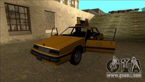 Willard Taxi for GTA San Andreas bottom view