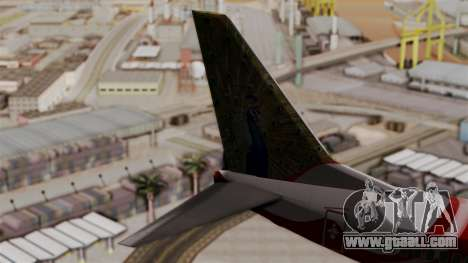 Boeing 737-800 Air India Express for GTA San Andreas back left view