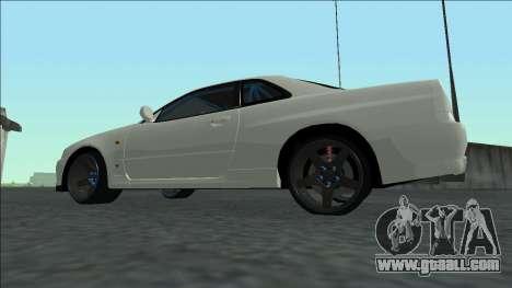 Nissan Skyline R34 Drift for GTA San Andreas inner view
