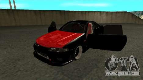 Nissan Skyline R33 Monster Energy for GTA San Andreas back view