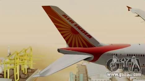 Airbus A380-861 Air India for GTA San Andreas back left view