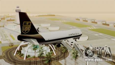 Boeing 747-100 UPS Old for GTA San Andreas left view