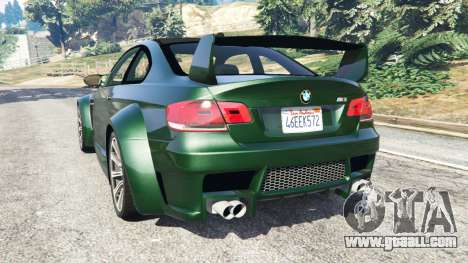 GTA 5 BMW M3 (E92) WideBody rear left side view