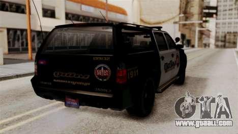 Sheriff Granger Police GTA 5 for GTA San Andreas left view