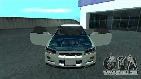 Nissan Skyline R34 Drift for GTA San Andreas interior
