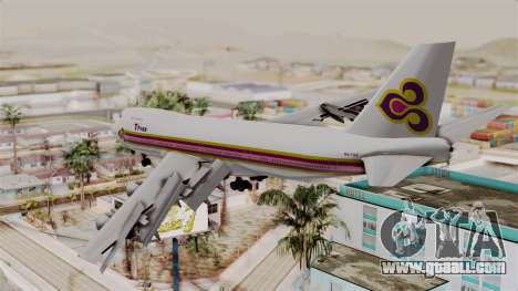Boeing 747-200 Thai Airways for GTA San Andreas left view