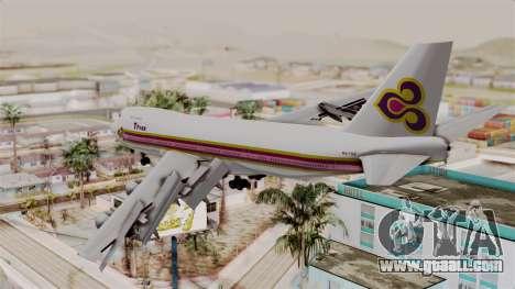 Boeing 747-200 Thai Airways for GTA San Andreas left view