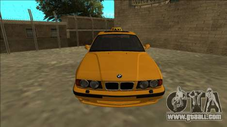 BMW M5 E34 Taxi for GTA San Andreas right view
