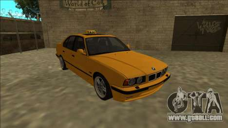 BMW M5 E34 Taxi for GTA San Andreas back view