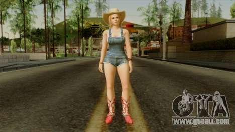 Dead Or Alive 5 Tina Overalls for GTA San Andreas second screenshot