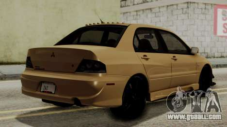 Mitsubishi Lancer Evolution IX MR 2006 for GTA San Andreas left view