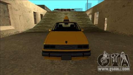 Willard Taxi for GTA San Andreas upper view