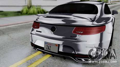 Brabus 850 Chrome for GTA San Andreas back view