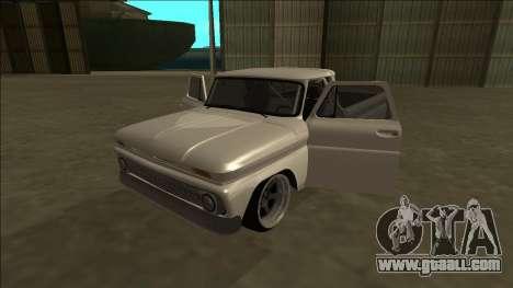 Chevrolet C10 Drift for GTA San Andreas inner view