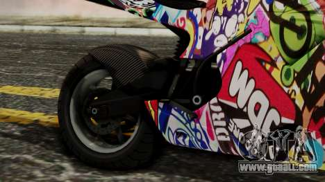 Bati Motorcycle JDM Edition for GTA San Andreas back view