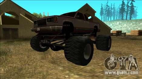New Yosemite v2 Monster for GTA San Andreas left view