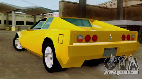 Cheetah from Vice City Stories IVF for GTA San Andreas left view