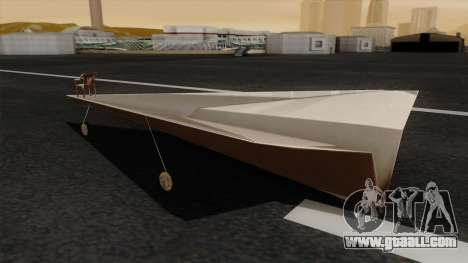 Paper airplane for GTA San Andreas left view