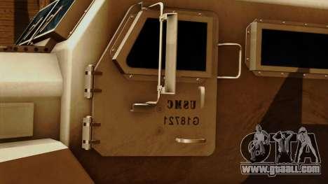 MRAP Cougar 4x4 for GTA San Andreas back view