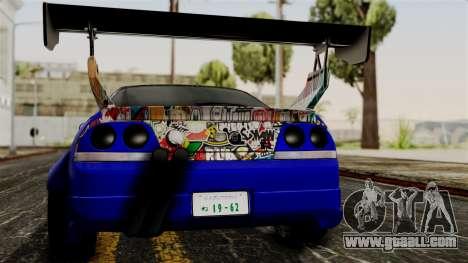 Nissan Skyline R33 Widebody Itasha for GTA San Andreas inner view