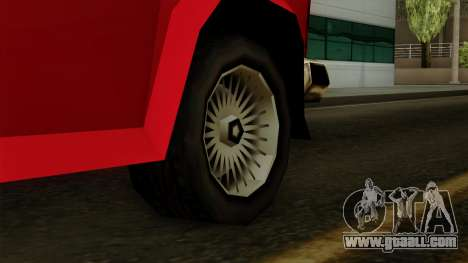 Burrito from Vice City Stories IVF for GTA San Andreas back left view