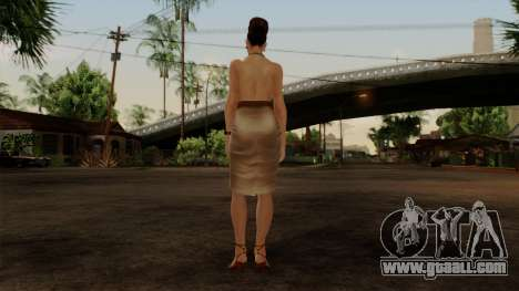RE5 Excella Gione for GTA San Andreas third screenshot