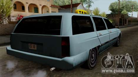 Taxi Solair for GTA San Andreas left view