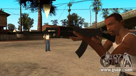 AK-47 Red Line from CS:GO for GTA San Andreas second screenshot