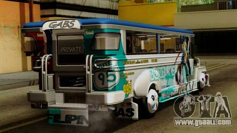 Auto Pormado - Gabshop Custom Jeepney for GTA San Andreas left view