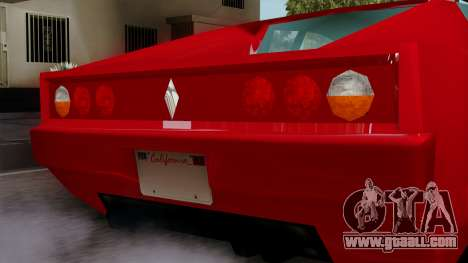 Cheetah from Vice City Stories for GTA San Andreas right view
