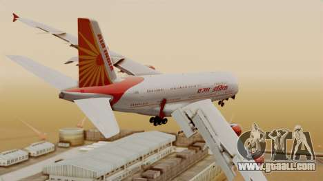 Airbus A380-861 Air India for GTA San Andreas left view