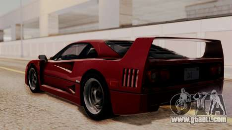 Ferrari F40 1987 without Up Lights HQLM for GTA San Andreas left view