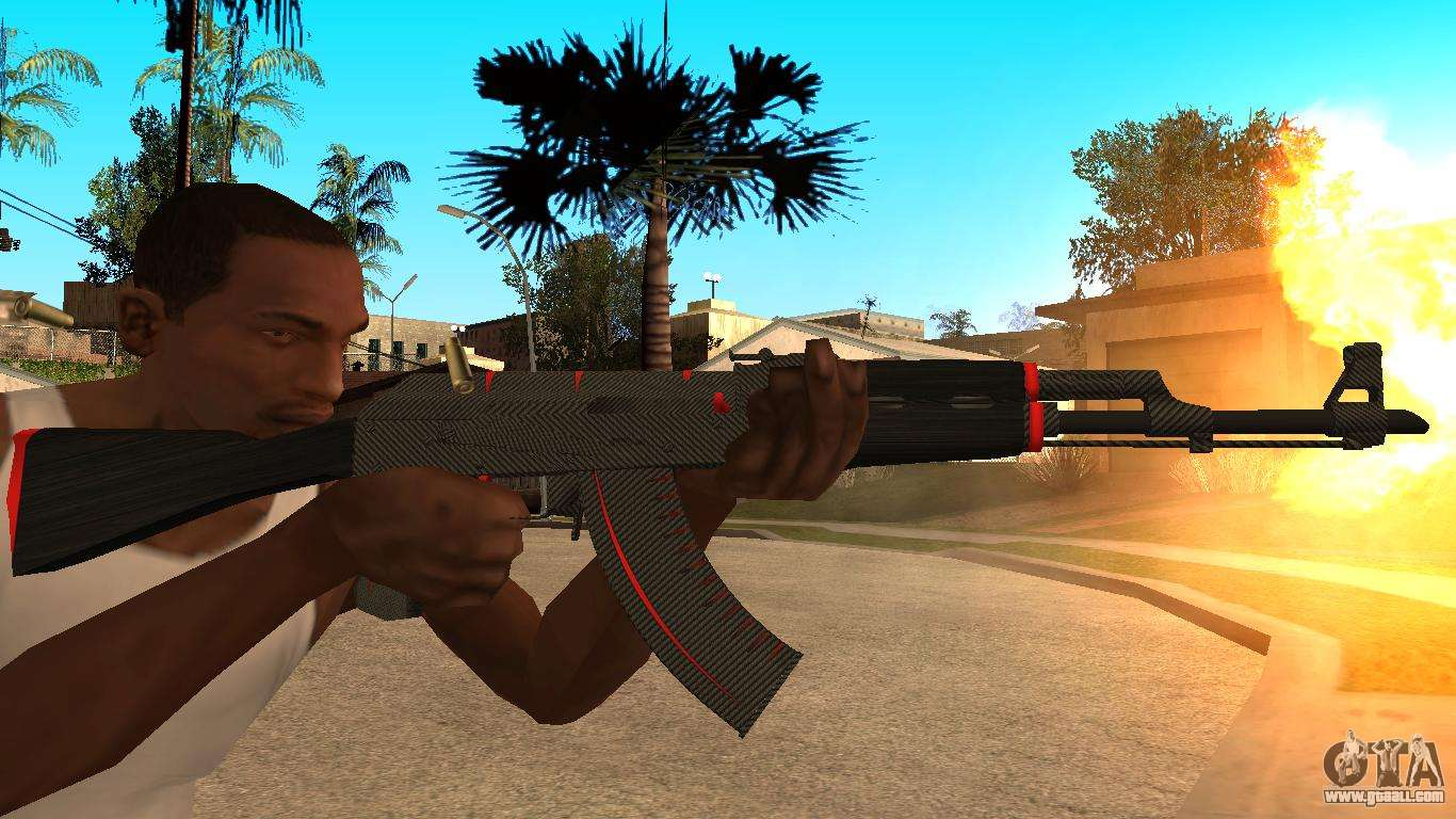 Ak 47 Red Line From Cs Go For Gta San Andreas