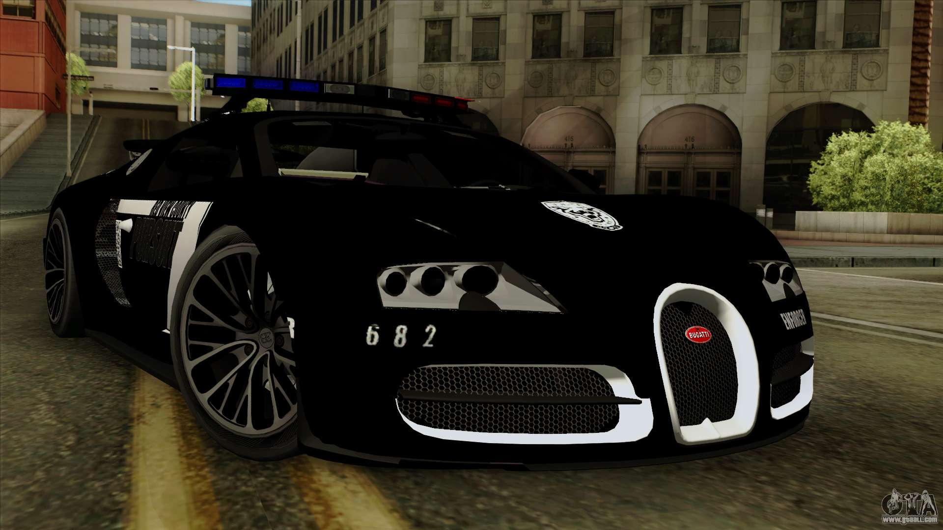 bugatti veyron 16 4 2013 dubai police for gta san andreas. Black Bedroom Furniture Sets. Home Design Ideas