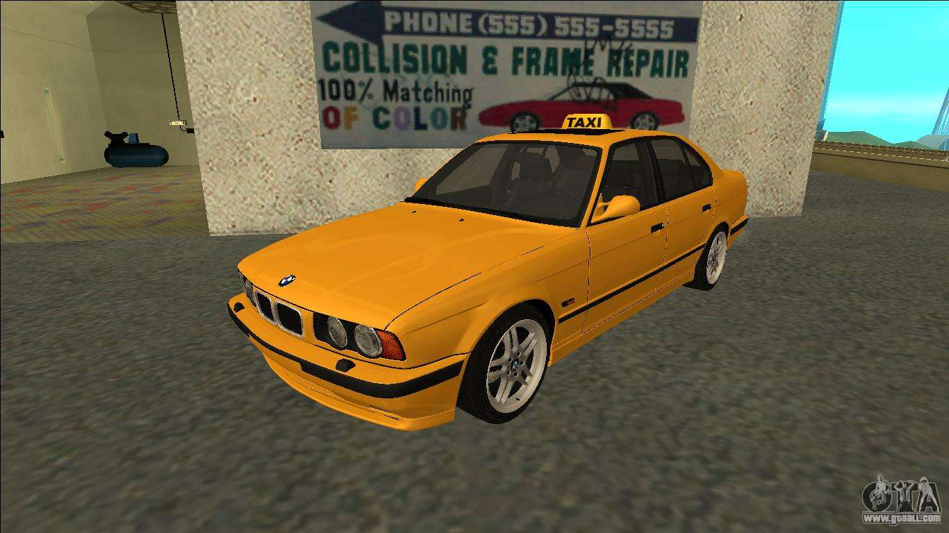 bmw m5 e34 taxi for gta san andreas. Black Bedroom Furniture Sets. Home Design Ideas