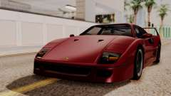 Ferrari F40 1987 without Up Lights HQLM for GTA San Andreas