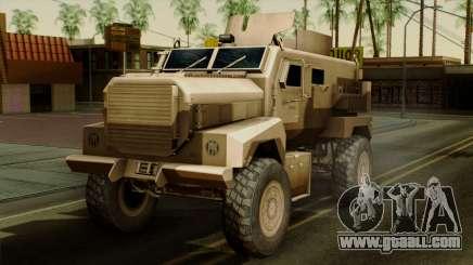 MRAP Cougar 4x4 for GTA San Andreas