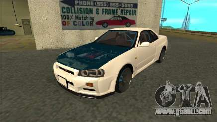 Nissan Skyline R34 Drift for GTA San Andreas