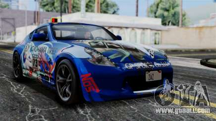 Nissan 370Z Tunable Miku Paintjob for GTA San Andreas