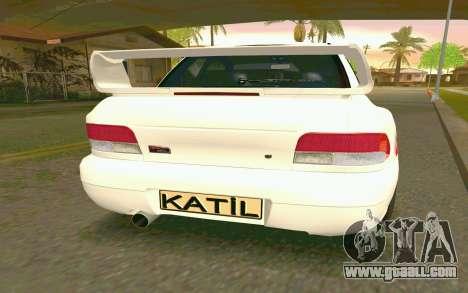 Subaru Impreza 22B STI - Itasha for GTA San Andreas back left view