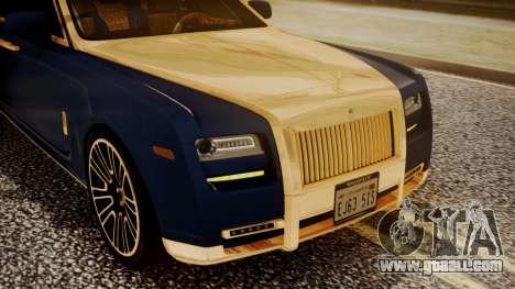 Rolls-Royce Ghost Mansory v2 for GTA San Andreas inner view