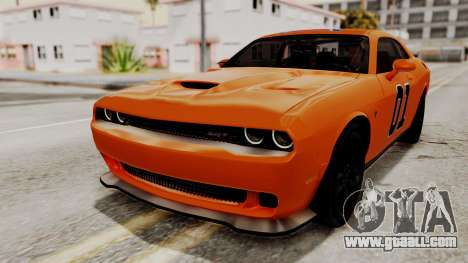 Dodge Challenger SRT Hellcat 2015 IVF for GTA San Andreas