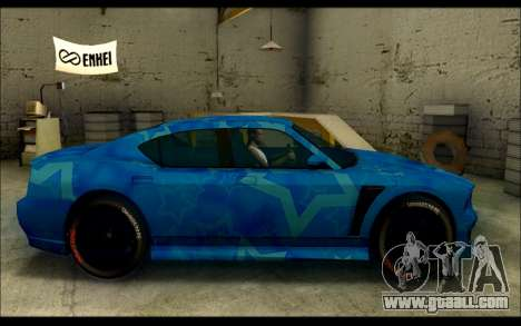 Bravado Buffalo Blue Star for GTA San Andreas left view