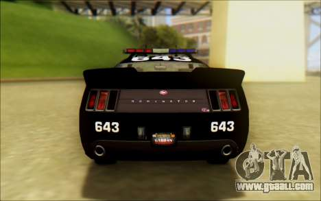 Vapid Dominator Transformers Police Car for GTA San Andreas back left view