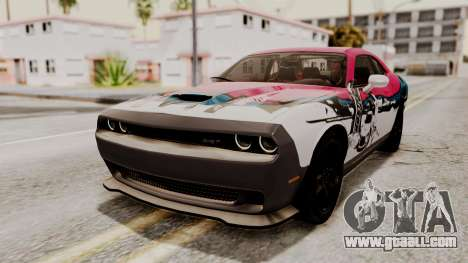 Dodge Challenger SRT Hellcat 2015 IVF for GTA San Andreas interior