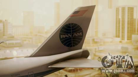 Boeing 747-100 Pan Am Clipper Maid of the Seas for GTA San Andreas back left view